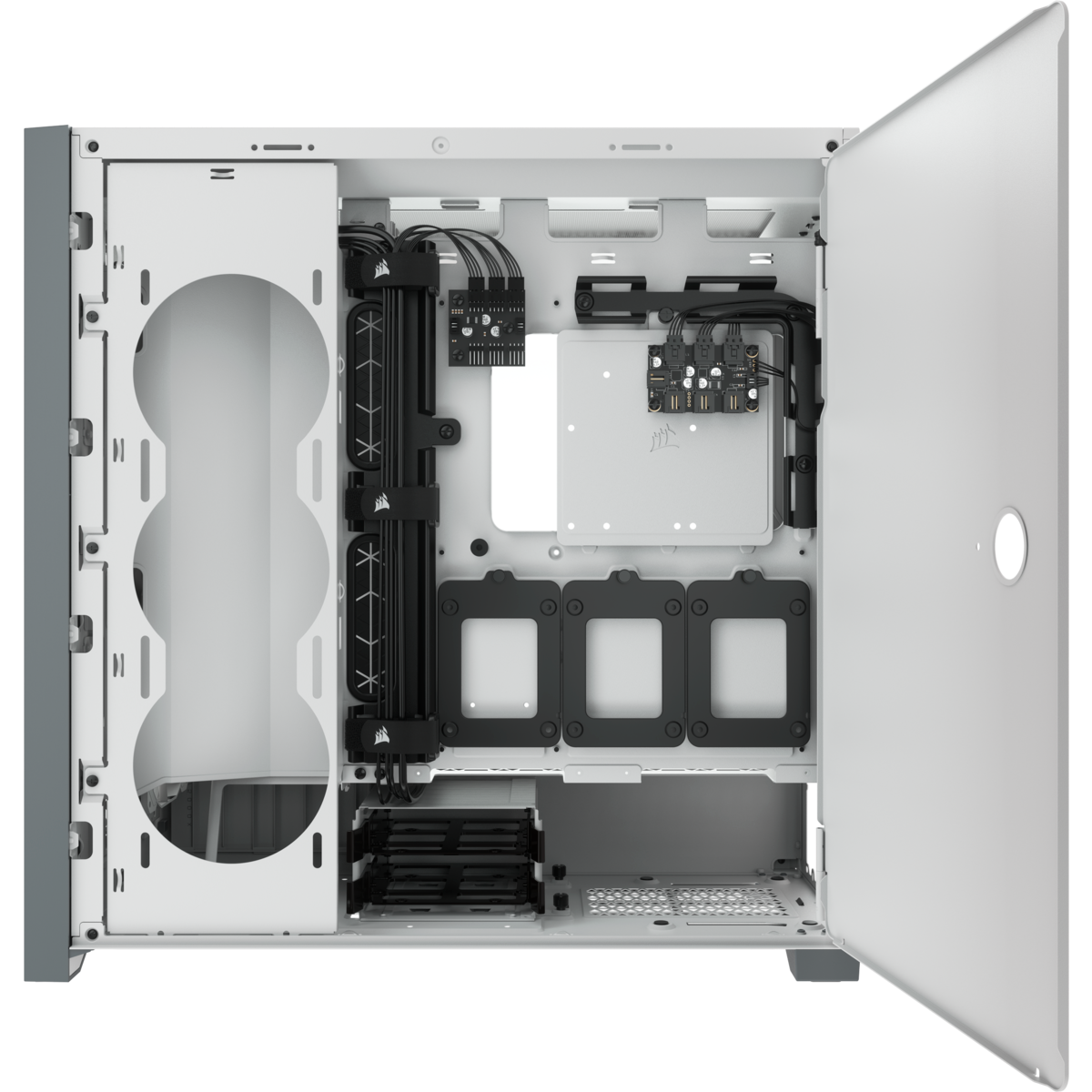 GEARVN.COM - Case Corsair 5000X RGB Tempered Glass White