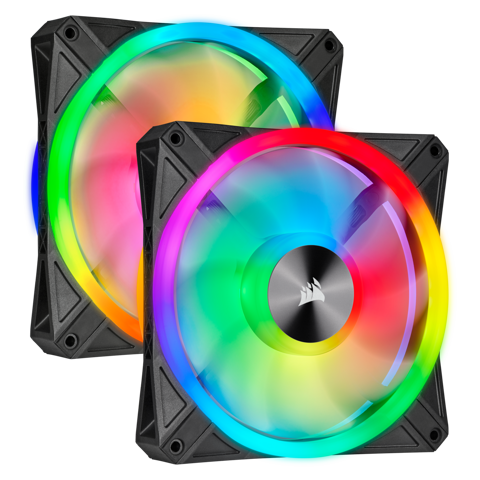 Fan Corsair QL140 RGB LED 140mm Fan - 2 FAN - Node CORE