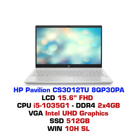 Laptop HP Pavilion 15 CS3012TU 8QP30PA