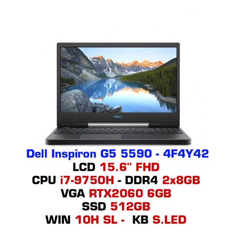 Laptop Dell Inspiron G5 5590  4F4Y42