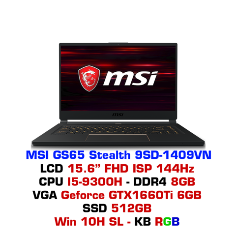 Laptop Gaming MSI GS65 Stealth 9SD 1409VN