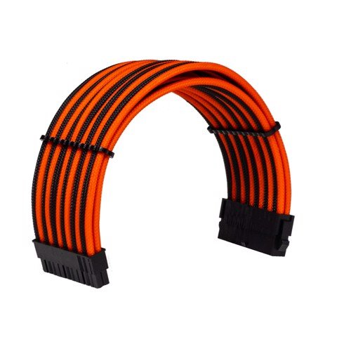Dây Cable Sleeving 24 Pin Orange - Interleaved - Black