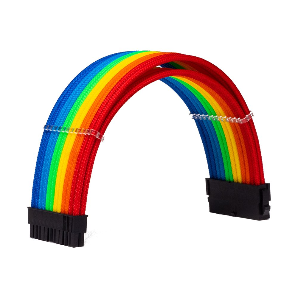 Dây Cable Sleeving 24 Pin Rainbow