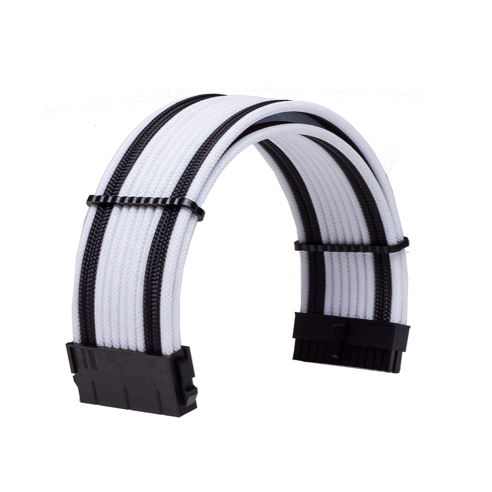 Dây Cable Sleeving 24 Pin White - Black