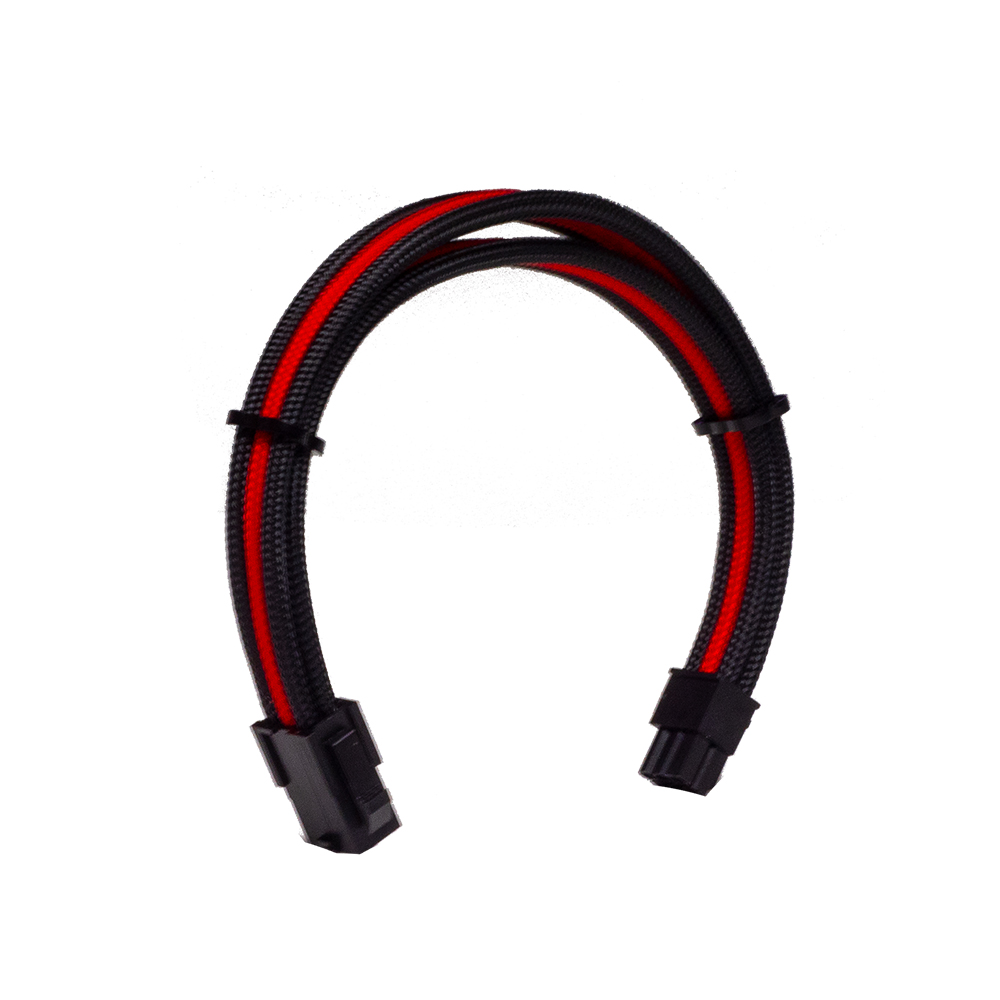 Dây Cable Sleeving 6 Pin Black - Interleaved - Red