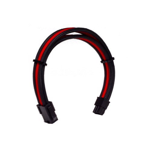 Dây Cable Sleeving 6 Pin VGA Black - Interleaved - Red