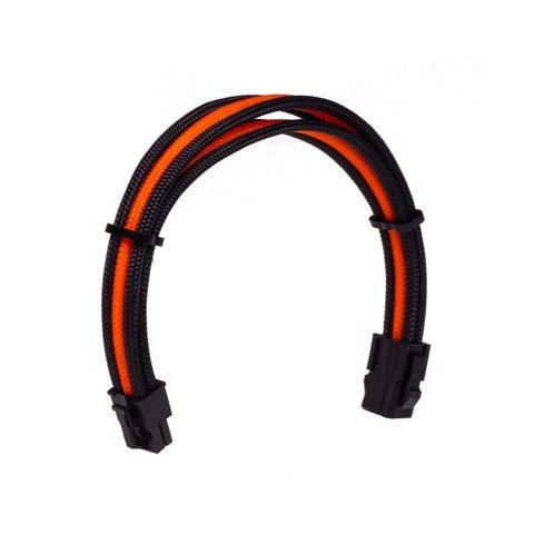 Dây Cable Sleeving 6 Pin CPU Orange - Interleaved - Black