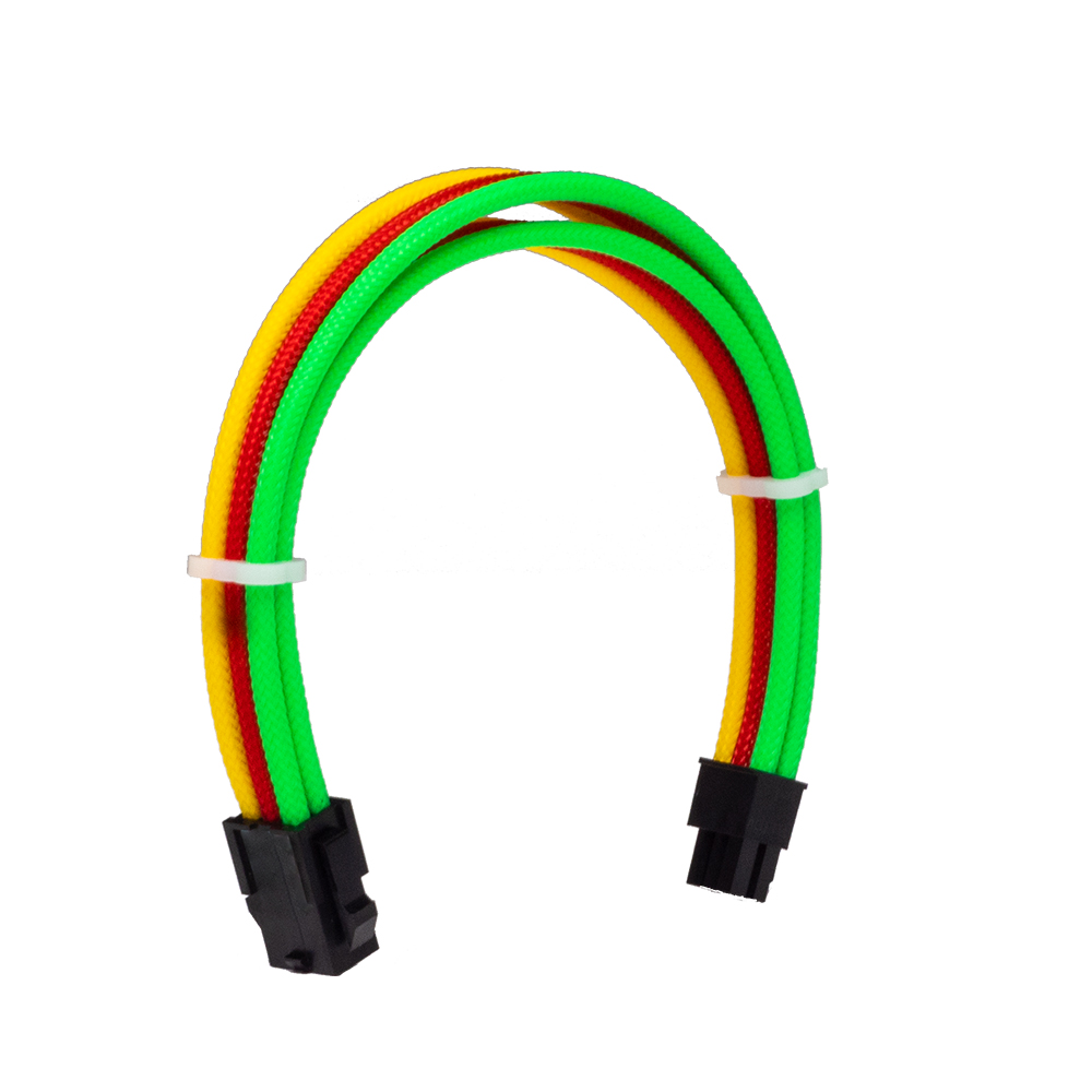 Dây Cable Sleeving 6 Pin Rainbow