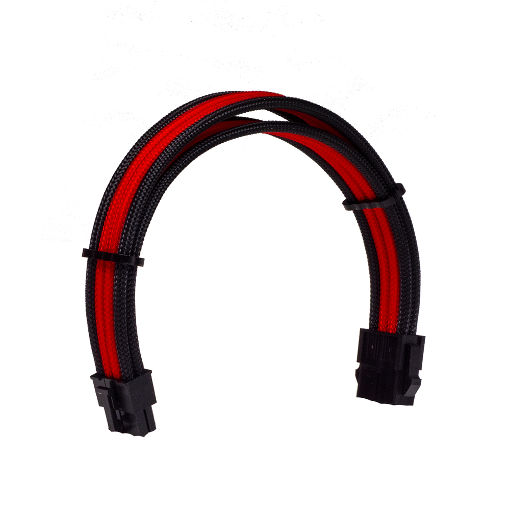 Dây Cable Sleeving 8 Pin Black - Interleaved - Red