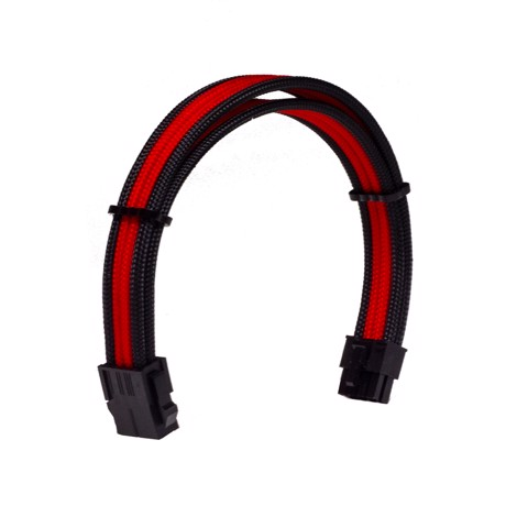 Dây Cable Sleeving 8 Pin CPU Black - Interleaved - Red