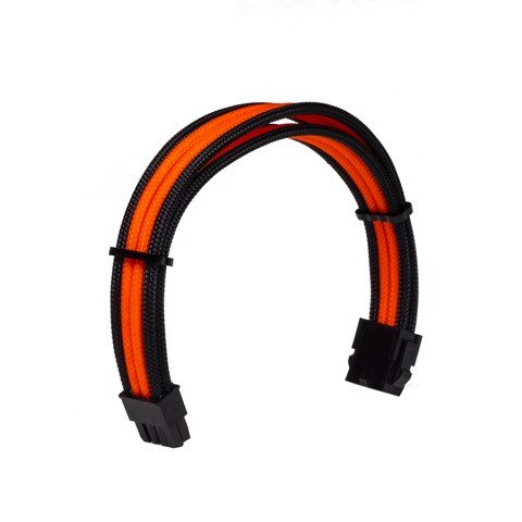 Dây Cable Sleeving 8 Pin CPU Orange - Interleaved - Black