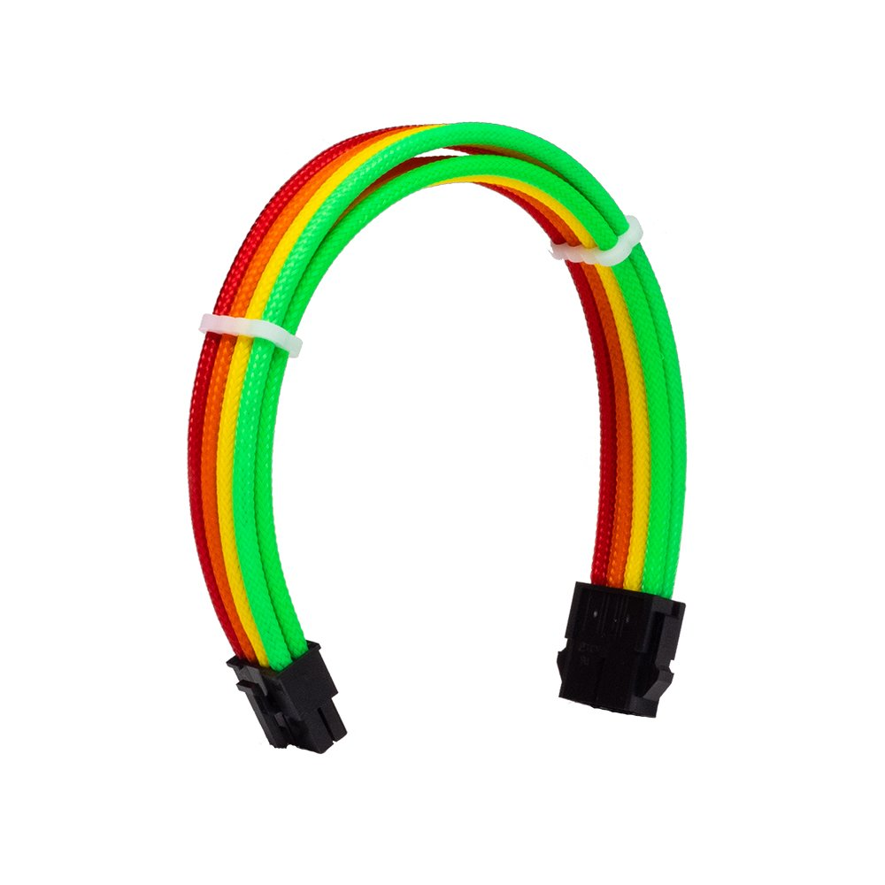 Dây Cable Sleeving 8 Pin CPU Rainbow