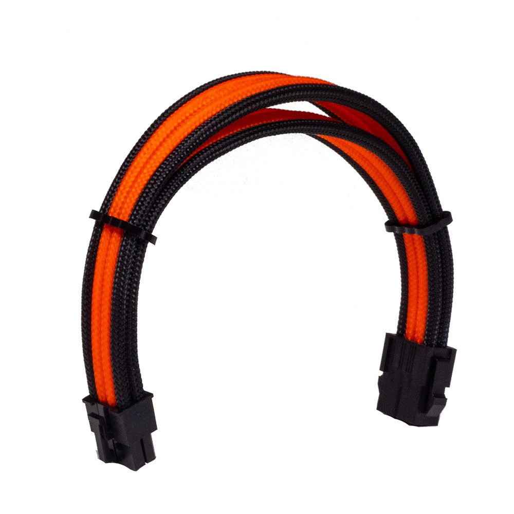 Dây Cable Sleeving 8 Pin Orange - Interleaved - Black