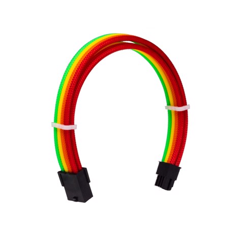 Dây Cable Sleeving 8 Pin VGA Rainbow