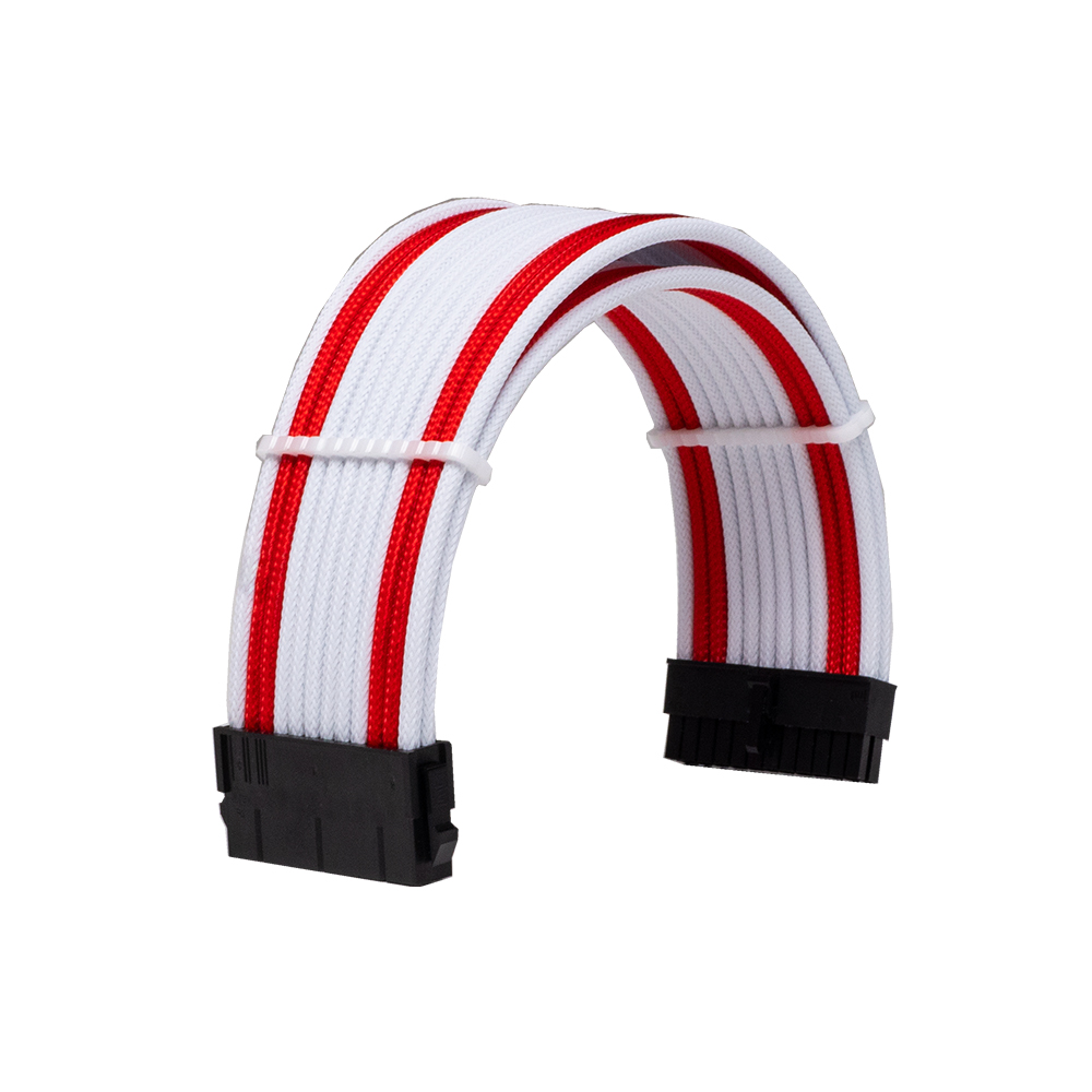 Dây Cable Sleeving 24 Pin White - Red