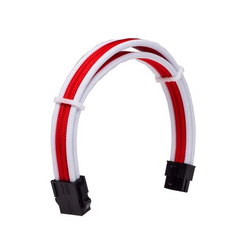 Dây Cable Sleeving 8 Pin CPU White - Red