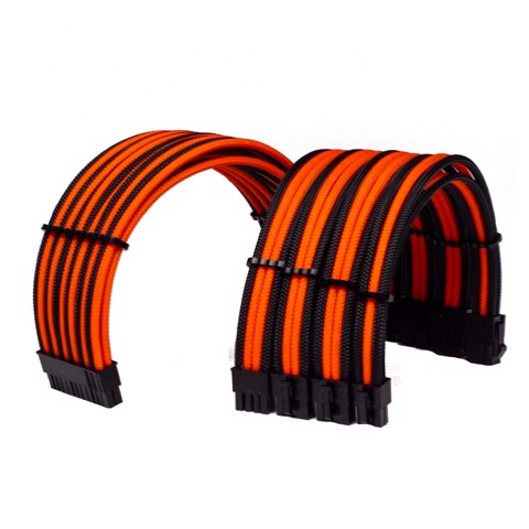 Combo Dây Cable Sleeving Orange - Interleaved - Black