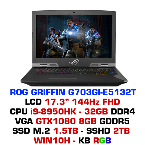 Laptop Gaming Asus ROG Griffin G703GI-E5132T