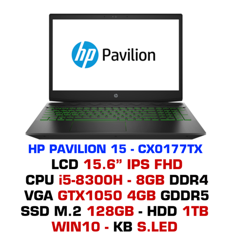 Laptop Gaming HP Pavilion 15 - CX0177TX (5EF40PA)