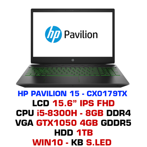 Laptop Gaming HP Pavilion 15 - CX0179TX (5EF42PA)