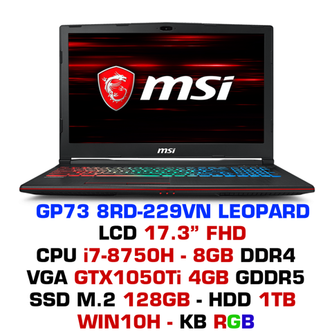 Laptop Gaming MSI GP73 8RD-229VN Leopard