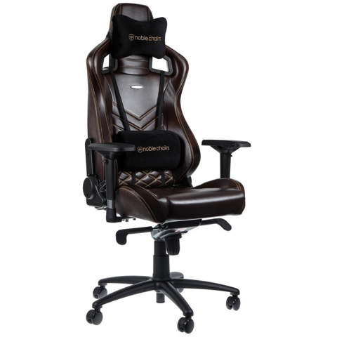 Ghế Gaming Noble Chair - Epic Series Brown/Begie (Real Leather)