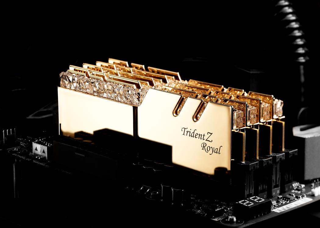 (16G DDR4 2x8G 3200 ) G.SKILL Trident Z Royal RGB GOLD