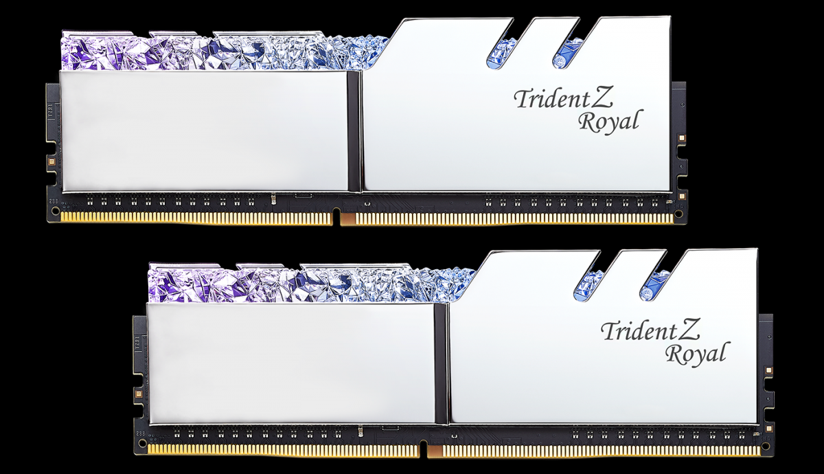 (16G DDR4 2x8G 3200 ) G.SKILL Trident Z Royal RGB SILVER