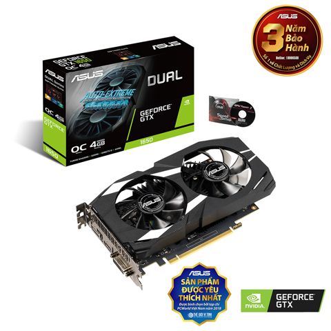 ASUS GeForce GTX 1650 4GB DUAL OC