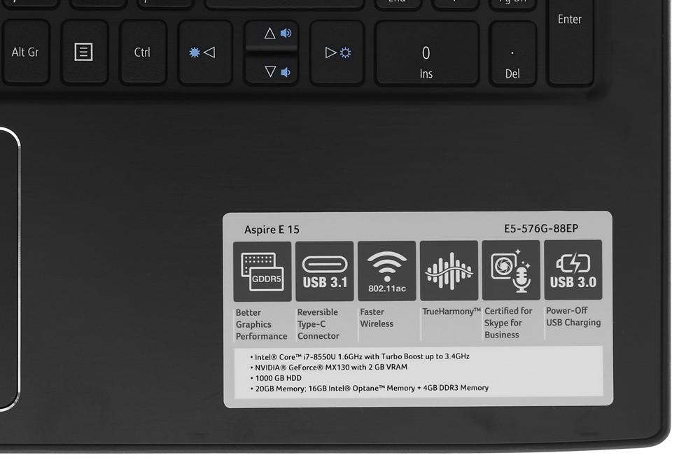 Laptop Acer Aspire E5-576G-88EP