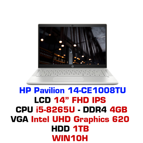 Laptop HP Pavilion 14-CE1008TU