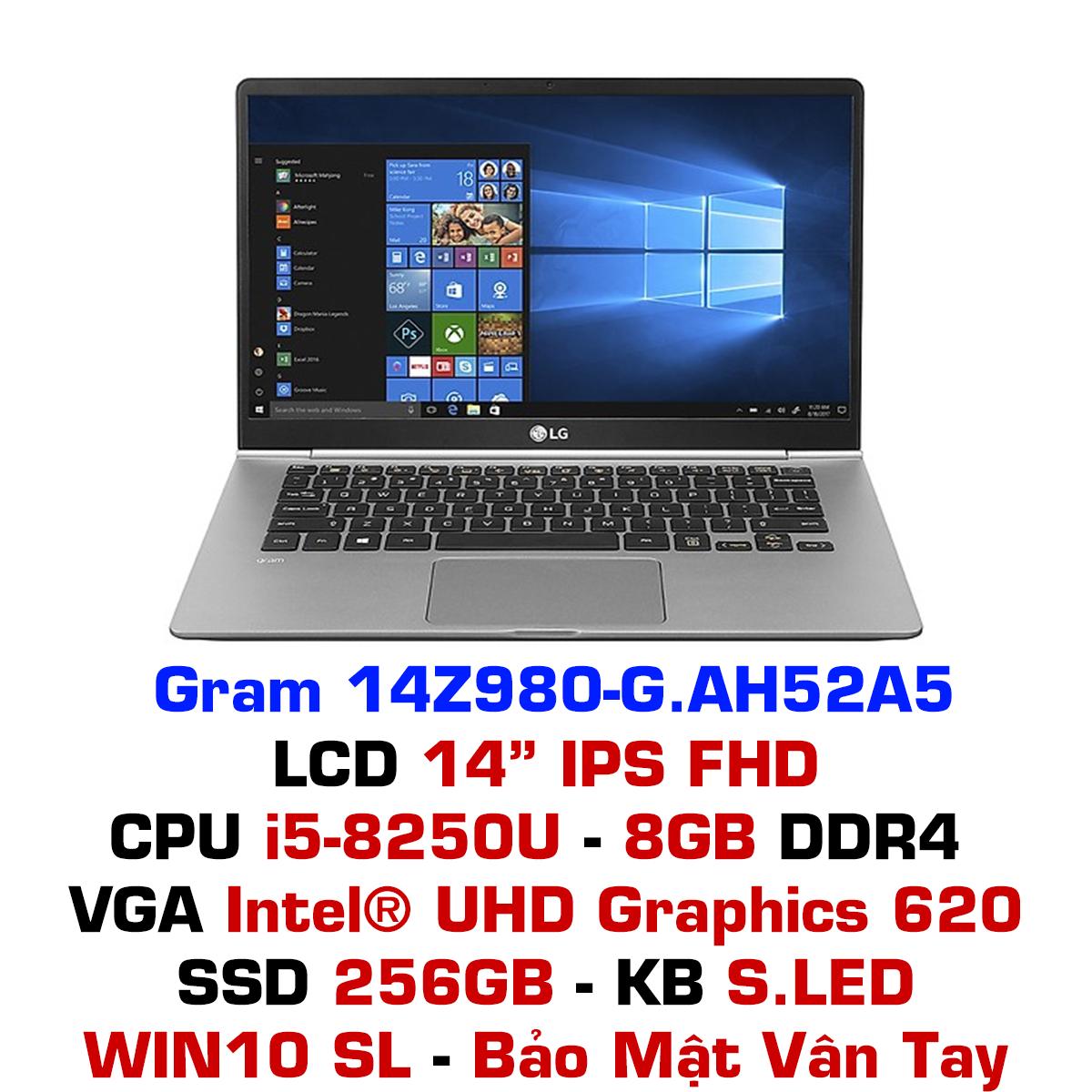 Laptop LG Gram 2018 14Z980-G.AH52A5