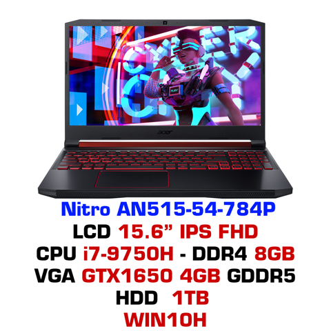 Laptop Gaming Acer Nitro 5 2019 AN515-54-784P