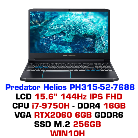 Laptop Gaming Acer Predator Helios 300 2019 PH315-52 7688
