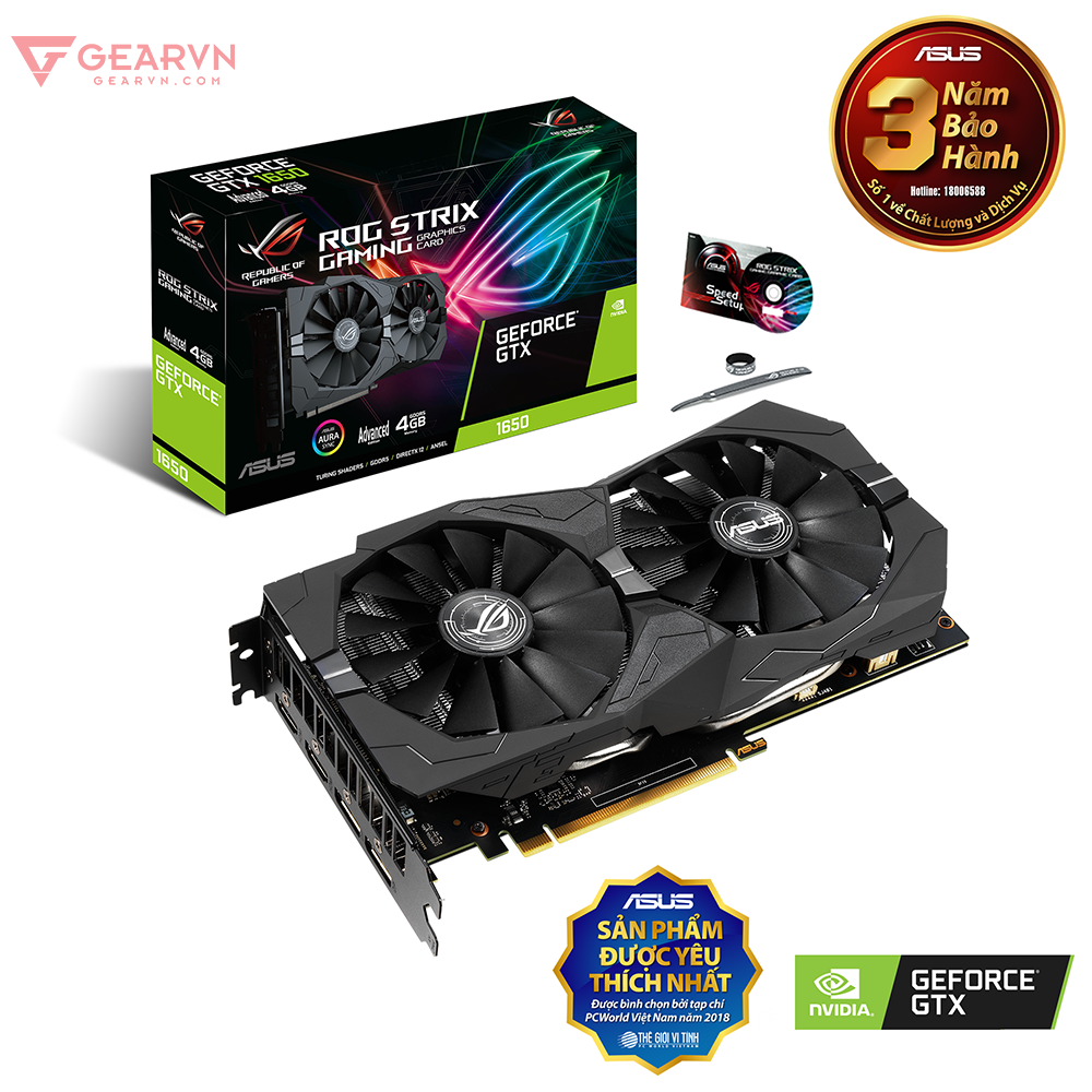 ROG Strix GeForce® GTX 1650 Advanced Edition 4GB GDDR5