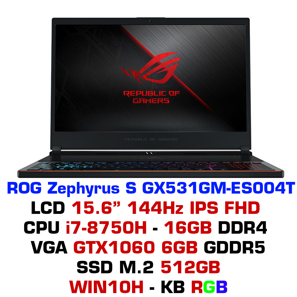 Laptop ASUS ROG Zephyrus S GX531GM-ES004T