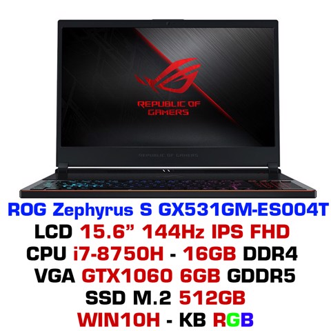 Laptop Gaming ASUS ROG Zephyrus S GX531GM-ES004T