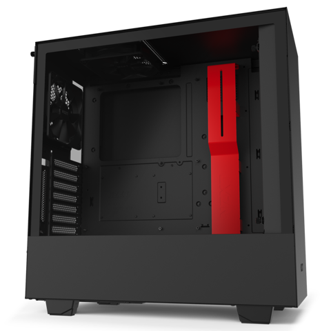 Case NZXT H510i MATTE BLACK/RED - (Mid - Tower)