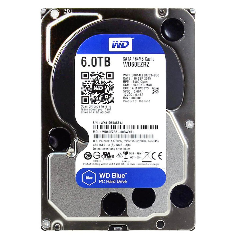 WD HDD 6TB Blue 5400rpm
