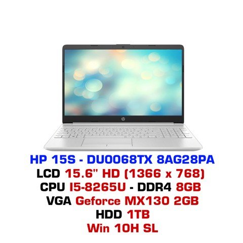 Laptop HP-15S 2019 DU0068TX 8AG28PA