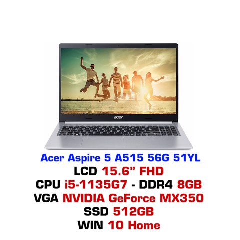 Laptop Acer Aspire 5 A515 56G 51YL