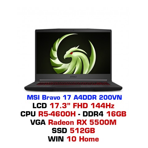 Laptop gaming MSI Bravo 17 A4DDR 200VN