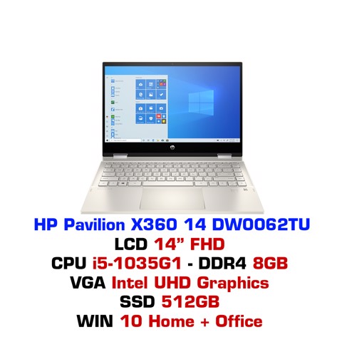 Laptop HP Pavilion X360 14 DW0062TU