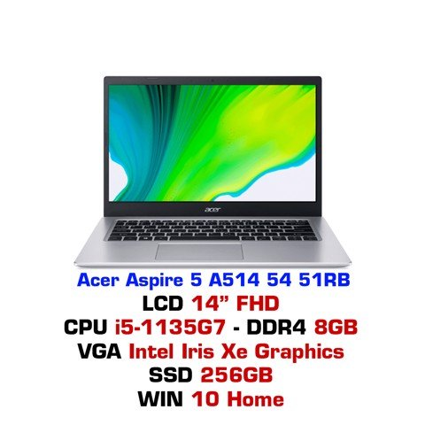 Laptop Acer Aspire 5 A514 54 51RB