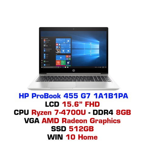 Laptop HP ProBook 455 G7 1A1B1PA