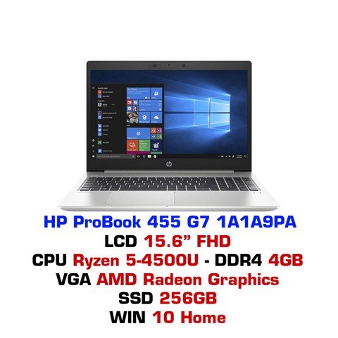 Laptop HP ProBook 455 G7 1A1A9PA