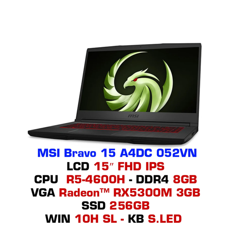 Laptop Gaming MSI Bravo 15 A4DC 052VN