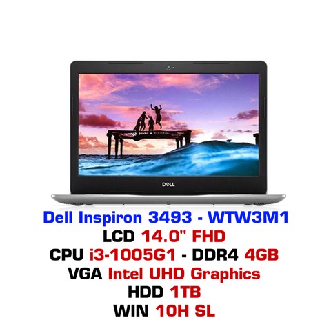 Laptop Dell Inspiron 3493 WTW3M1