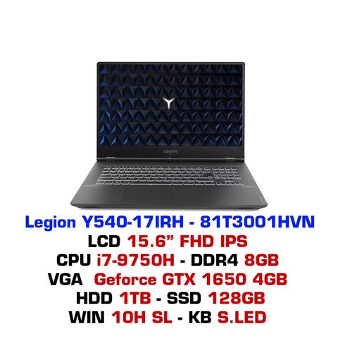 Laptop Gaming Lenovo Legion Y540 17IRH PG0 (81T3001HVN)