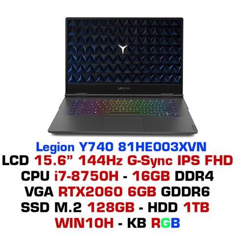 Laptop Gaming Lenovo Legion Y740 5ICHG 81HE003XVN